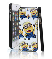 For iPhone 5 5S case Despicable Me 2 Character Glossy Hi-quality Case + Film A121-20