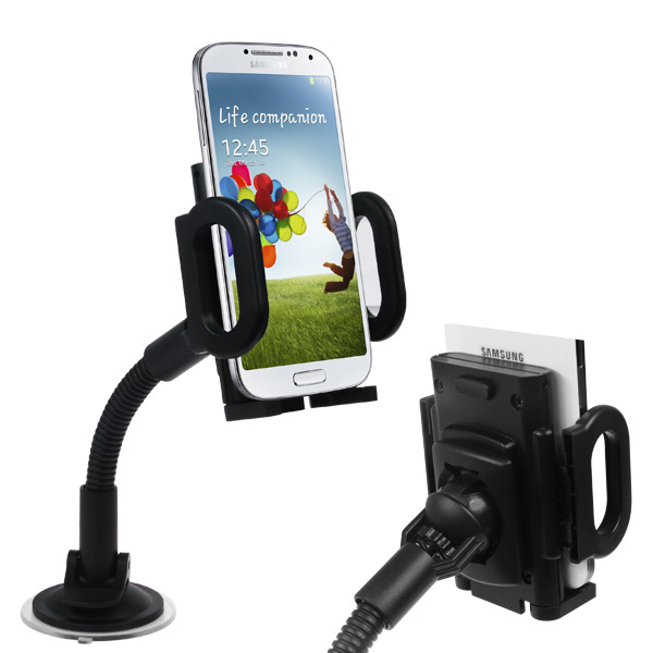 Universal 360 Degree Rotating Suction Cup Plastic Car Adjustable Mount Holder for iPhone 4 4S 5 GPS iPod Samsung Galaxy S4 HTC(China (Mainland))