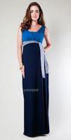 Contrast Color Rayon/Spandex Maternity Dress Comfort Breastfeeding Dress Fashion Nursing Dress M-0375