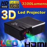 ATCO Factory Sale 3300Lumens led digital video 1080P full hd projector HD TV multimedia Portable home projectors 2HDMI 2USB