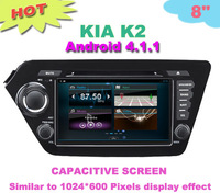 HD Capacitive screen android 4.1.1 android car dvd DVD for KIA K2 car dvd player