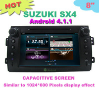 HD Capacitive screen android 4.1.1 android car dvd DVD for SUZUKI SX4 car dvd player