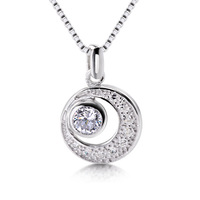 Crystal pendant 925 silver wholesale stainless steel fashion jewelry party gift for women ladies 2013 hot sale dropship