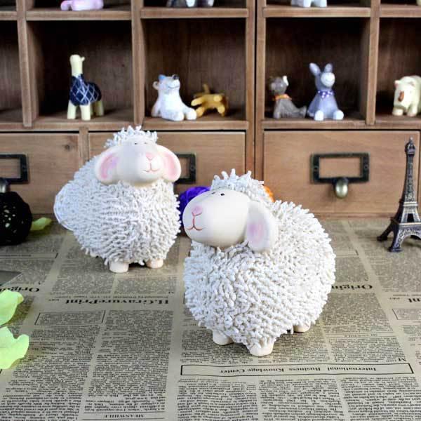 verzending keramische schapen artikelen voor stoffering home decor