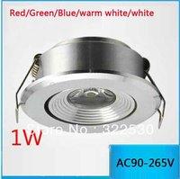 Ultrathin LED 1W Ceiling Spotlight.Energy Saving Lamp.AC85-265V.CE ROHS.Free Shipping