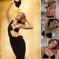 Smooth Multi-way All Match Low Back Invisible Strapless Half Cup Plunge Push Up Convertible Brassiere Bra 32 34 36 38 A B C
