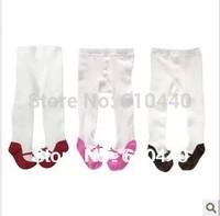 3pcs/lot Cute baby girl's Cotton leggings children's leggings new born baby stocking Cotton toddler's tights babies pp pants