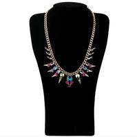 Fashion accessories multicolour crystal rivet short design necklace pendant necklaces pendants best friend