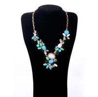 Fashion accessories flower gem women's necklace accessories pendant necklaces pendants best friend