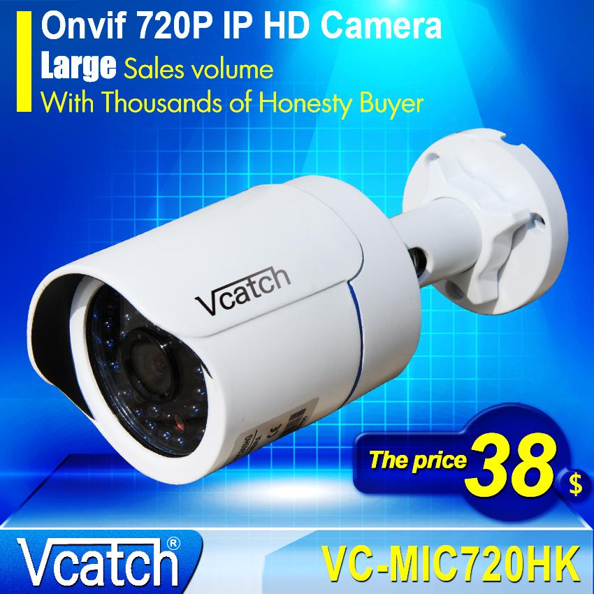 Mini IP Camera Outdoor 720P Waterproof IP66 Network 1.0MP HD CCTV Camera P2P Plug Play VC-MIC720HK + Free Power Supply(China (Mainland))