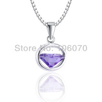 Freeshipping Luxury Women necklaces & pendants Fashion Famous Brand 925 sterling silver jewelry Classic Silver pendant For Lady