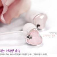 HOT NEW Promotions New 2014 Sweetheart Crystal Diamond headset/in-ear earphone headphone /pvc headphones