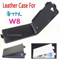 THL W8 W8S Case, New High Quality Genuine Filp Leather Cover Case for THL W8 W8S case free shipping Black color 2-color