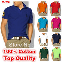 New 2013 Fashion POLO Men Shirts Short-sleeved Summer Outwear Shirts For Men Lovers Casual Polo Shirt With LOGO Free Shipping