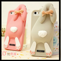 2013 New Arrival Cartoon 3D Bunny case Silicon Rabbit Case Cover For iPhone 4 4s 5 5s Free Shipping