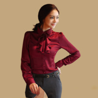 hot sale women shirts female long-sleeved shirt Slim Korean version of the 2013 autumn blusas free shipping 2013 women summer