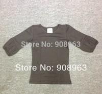 2014 Girls bubble shirts baby girls puffy sleeves shirts 100% cotton girls shirts top Fashion Free Shipping