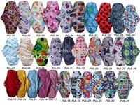 Free Shipping 30pcs/lot Sanitary Towels Best Bamboo Menstrual Pads Cloth PUL Reusable Sanitary Napkins
