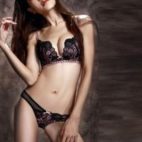 Free shipping new 2013 women underwear set lace bar sexy push up deep v autumn summer hot sale  V141