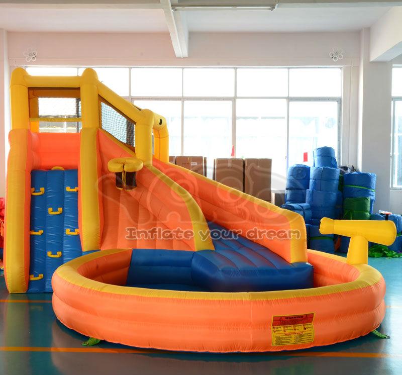 Backyard water slide inflatable water park pool inflatable water slide game for kids(China (Mainland))