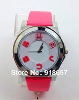Wholesale New 2014 Leather Strap Watches Fashion Luxury MJ Brand Women Rhinestone Watches Casual Clock Ladies Wristwatches