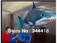Fedex free shipping 48pcs/lot REMOTE CONTROL FLYING FISH shark rc /best remote shark for christams gift/whoesale remote shark