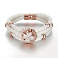 Four leaf clover circle bracelet