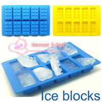 100pcs per lot  silicone  blocks shape ice tray chocolate mould ice mold candy mold send via express