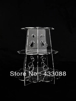 Clear Simple Design Fountain Cupcake Stand