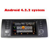 BY DHL EMS 1 Din Android 4.2.2 car dvd for bmw M5 E39  X5 E53  with GPS Navigation USB SD Bluetooth Radio
