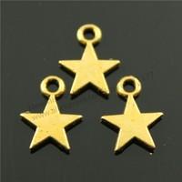 100pcs/lot 11*8mm 3 Colors Antique Gold, Antique Bronze, Antique Silver Plated Tiny Star Charms