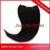 Free Shipping Cheap 6inch 100% Virgin Brazilian Hair J curl single sewing Hair Extensions 44gram/ pack