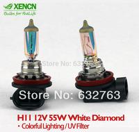 Hot Sale New XENCN H11 12V 55W White Diamond Light Colorful Lighting Car Bulbs Halogen Wide Product Range Fog Lamp Free Shipping