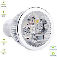 Free Shipping 5X1W LED Spot Ceiling Lamp Bulb GU5.3 E27 AC85-265V 4000K