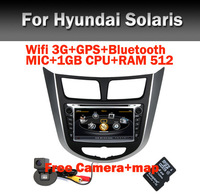 S100 A8 Car DVD Radio for Hyundai Verna Accent Solaris Wifi 3G GPS bluetooth Radio TV  USB SD Steering Wheel control