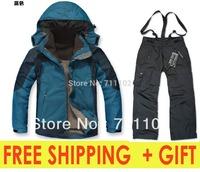 free shipping brand men's winter clothes sets jackets outdoor climbing skiing sports coats hoodies pants fleece autumn men A+++