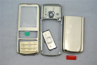 Brand New Replacement Gold Color Full Housing Case Cover with Russian Keyboard for Nokia 6700C 6700 Classic