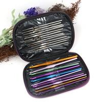 6Sets/Lot New 22Pcs/Set Multi-colour Aluminum Crochet Hooks Knitting Needle Set Weave Craft Tool SV18 18433