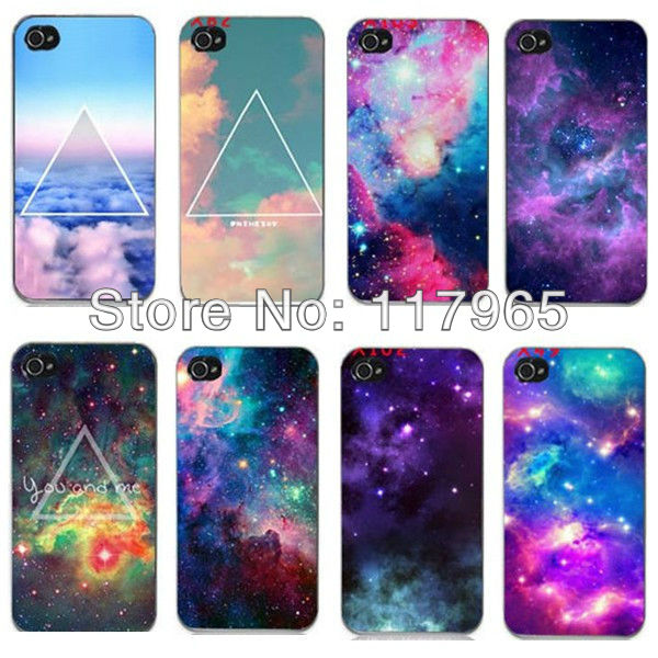 Min.order is $10 (mix order) New Hot Nebula Galaxy Space Universe Snap On Hard Case Cover Protector for iPhone 4 4S 5 5G EC003(China (Mainland))
