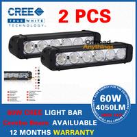 11 inch 60W CREE LED Work Light Bar Tractor 4x4 Offroad Fog light ATV LED Work Light External Light