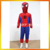 Free Shipping MOQ 1 set Children Spiderman costumes AECC-2278