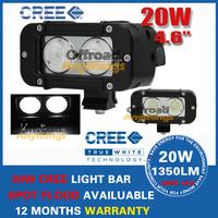 2 Pcs  5Inch 20W Cree LED Work Light Bar Spot Flood 4WD Boat  Driving Work Light Free Shipping