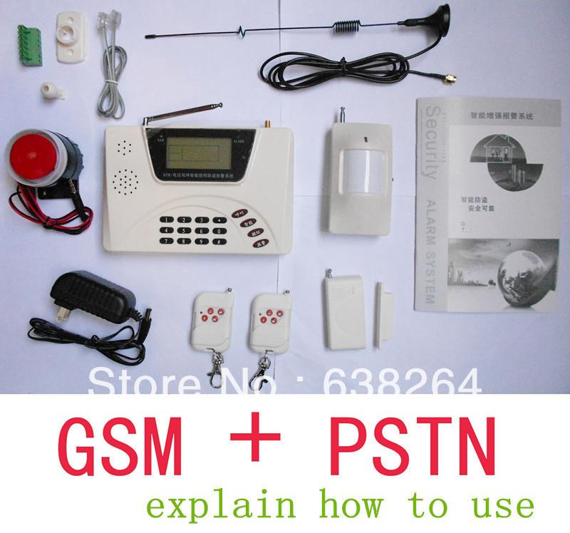Гаджет  Cheapest GSM Alarm System smart home Burglar Security Detector Sensor For Garage Storge Store House Garden free shipping None Безопасность и защита
