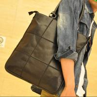2014 New Men'S Vintage Bag Messenger Bag Fashion Handbag  Man Bag High Quality Soft Leather Plaid Bag H142