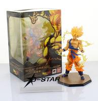 "Free Shipping Cool 6.8"" Dragon Ball Z SUPER SAIYAN GOKU Son Gokou Battle Ver. Boxed PVC Action Figure Model Collection Toy Gift"
