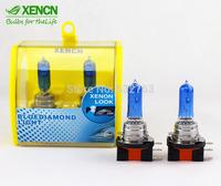 XENCN H15 64176 12V 55/15W 5300K Blue Diamond Light Car Bulbs Headlight Quality Golf Xenon White Replace Upgrade Halogen Lamp