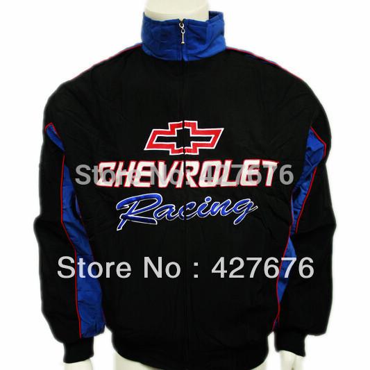 Vestuário F1 carro de corrida automóvel chevrolet outerwear de manga comprida de algodão acolchoado jaqueta de logotipo bordado A126(China (Mainland))