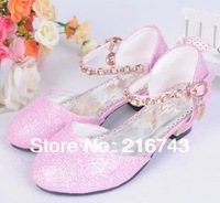 new 2014 princess sandals for girls high-heeled shoes kids girls shoes children shoes dress heels shoes  ,Free shipping