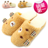 Women Popular Animal Striped Skidproof Home Slippers,Lovely Animal Slippers,Winter Warm Plush Slippers SLI01