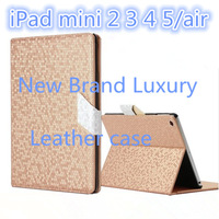 New 2014 Brand YAMEISI Luxury Star Style Diamond flip Leather stand book cover for ipad 5 air mini 2 3 4 sleep wakeup case id004